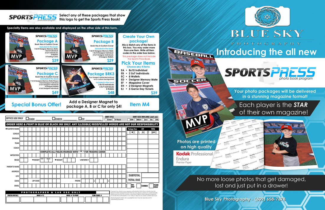 11x17 Youth Sports Press Envelope Front Side